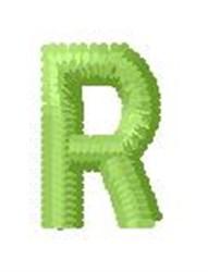 Tree Block Alphabet R embroidery design