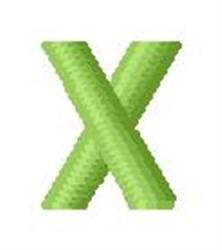 Tree Block Alphabet X embroidery design