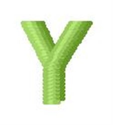 Tree Block Alphabet Y embroidery design
