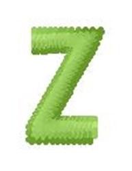 Tree Block Alphabet Z embroidery design