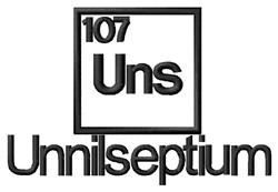 Unnilseptium embroidery design