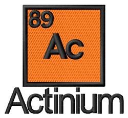Actinium embroidery design