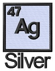 Silver embroidery design