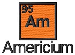 Americium embroidery design