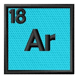 Atomic Number 18 embroidery design