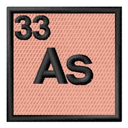 Atomic Number 33 embroidery design