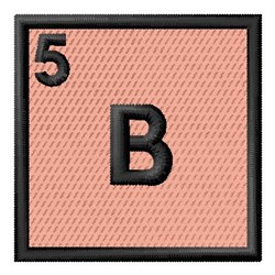 Atomic Number 5 embroidery design