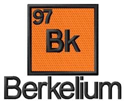 Berkelium embroidery design