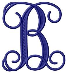 Vining Monogram B embroidery design
