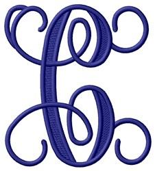 Vining Monogram C embroidery design