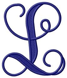 Vining Monogram L embroidery design
