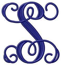 Vining Monogram S embroidery design