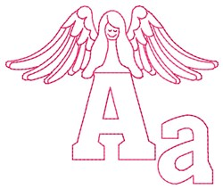 Angel A embroidery design