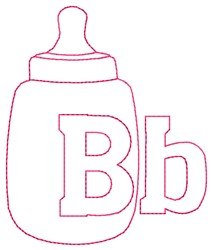 Bottle B embroidery design