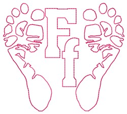 Feet F embroidery design