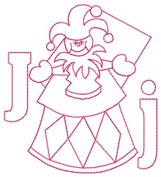 Jack in the Box J embroidery design