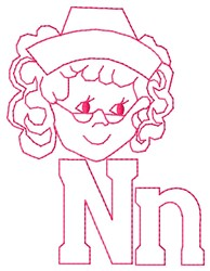 Nurse N embroidery design
