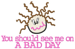 A Bad Day embroidery design