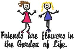 Garden Of Life embroidery design