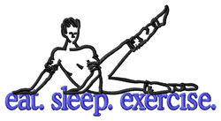 Exercise (Aerobics) embroidery design