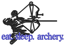 Archery (Archer) embroidery design