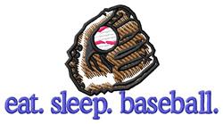 Baseball (Glove) embroidery design