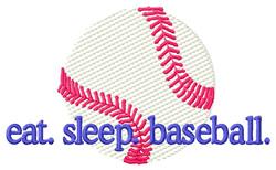 Baseball (Light Fill Ball) embroidery design