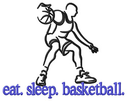 Basketball (Player) embroidery design
