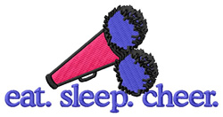 Cheer (Megaphone & Pompons) embroidery design