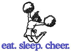 Cheer (Cheerleader) embroidery design