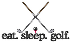 Eat Sleep Golf embroidery design