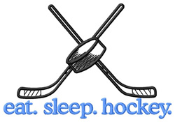 Hockey (Sticks) embroidery design