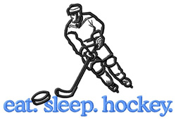 Hockey (Player) embroidery design