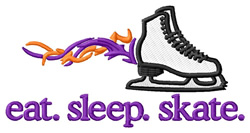Flaming Skate  embroidery design