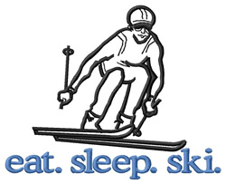 Ski (Skier) embroidery design