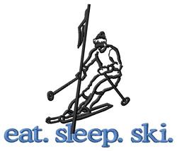 Ski (Skier #2) embroidery design
