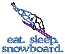 Snowboard (Boarder) embroidery design