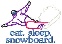 Snowboard (Boarder #2) embroidery design