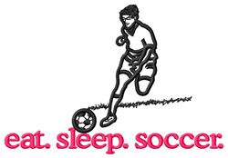 Soccer (Player) embroidery design