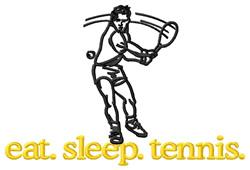 Tennis (Male) embroidery design