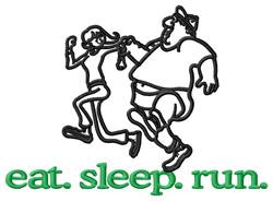Run (Runners) embroidery design