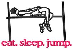 Jump (High Jumper) embroidery design