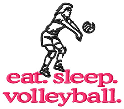 Volleyball (Player) embroidery design