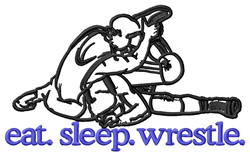 Wrestle (Wrestlers) embroidery design