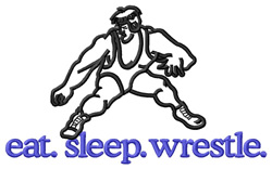 Wrestle (Wrestlers #2) embroidery design