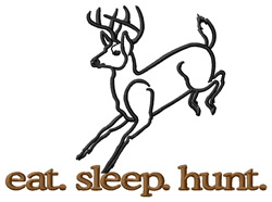 Hunt (Deer) embroidery design