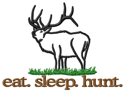 Hunt (Elk) embroidery design