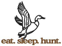 Hunt (Duck) embroidery design