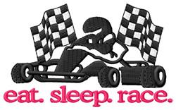 Race (Go Kart) embroidery design