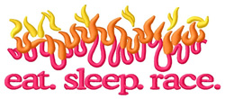 Race Flames embroidery design